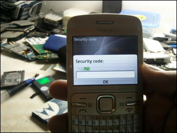 how to open security code of nokia rm 944